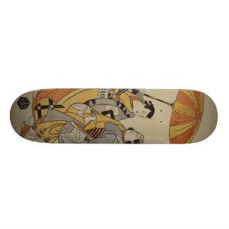 Japanse Houtdruk #2 Skateboard