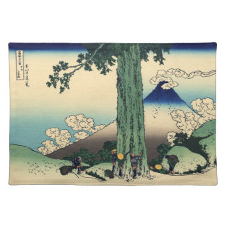 Japanse Houtsnede: De Pas van Mishima in Provincie Placemat