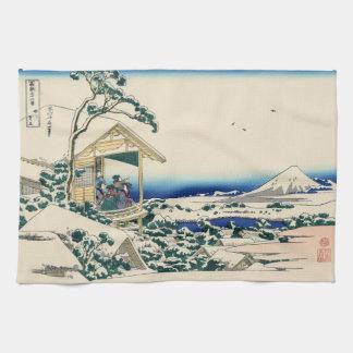 Japanse Houtsnede: Het Huis van de thee in Koishik Theedoek