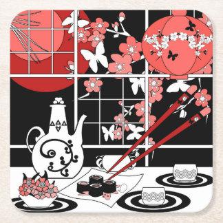 Japanse keuken vierkante onderzetter