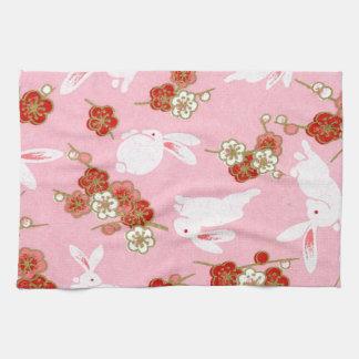 Japanse Kunst: De roze Handdoek van Sakuras & van