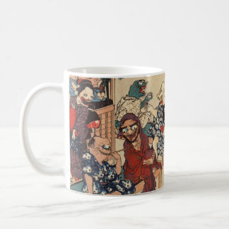 Japanse Kunst Ukiyoe (Kuniyoshi Utagawa) Koffiemok