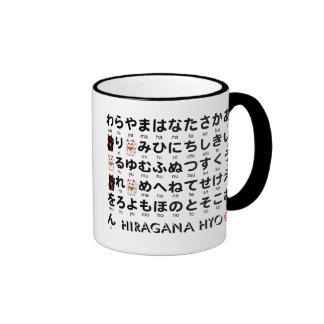 Japanse lijst Hiragana & Katakana (Alfabet) Mok Gekleurder Rand En Oor