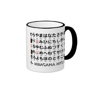 Japanse lijst Hiragana & Katakana (Alfabet) Koffie Bekers