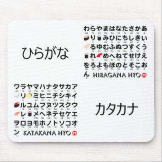 Japanse lijst Hiragana & Katakana (Sushi) Muismatten
