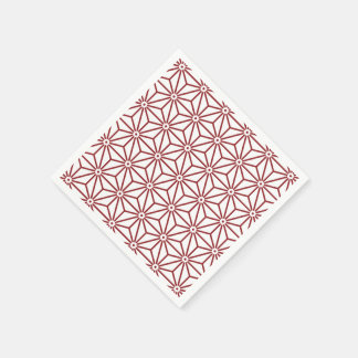 Japanse shinshu van Yukata Jinbei Asanoha Papieren Servetten