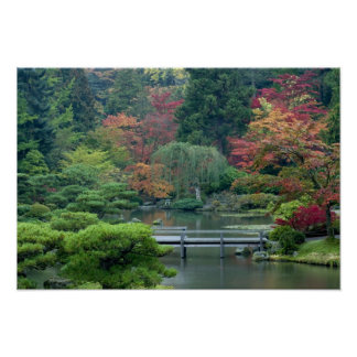 Japanse Tuin bij het Park van Washington Poster