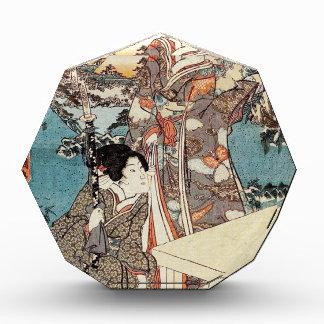 Japanse vintage ukiyo-e geisha oude rol acryl prijs