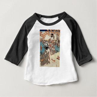 Japanse vintage ukiyo-e geisha oude rol baby t shirts