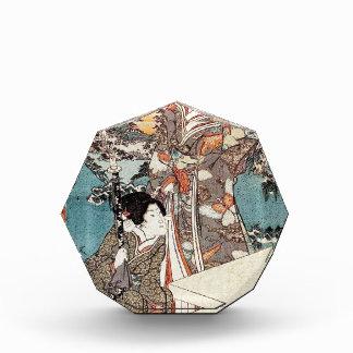 Japanse vintage ukiyo-e geisha oude rol prijs