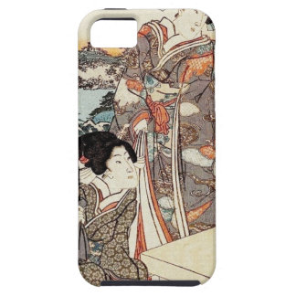 Japanse vintage ukiyo-e geisha oude rol tough iPhone 5 hoesje