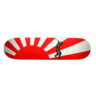 Japanse Vlag met Ninja Skate Deck