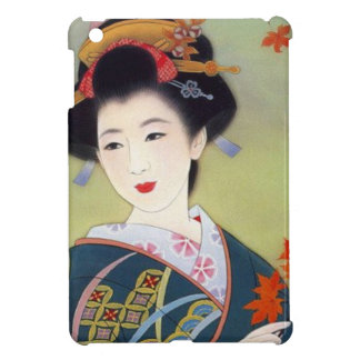 Japanse vrouw in blauwe kimono iPad mini case