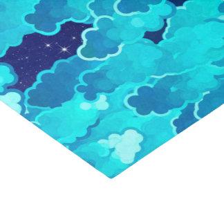 Japanse Wolken, die Hemel, Turkoois en Indigo Tissuepapier
