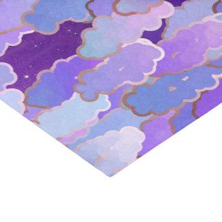 Japanse Wolken, Schemering, Viooltje en Deep Tissuepapier