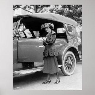 jaren '20 Auto en Mode Poster