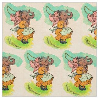 jaren '30 gekleed olifant het spelen springtouw stof