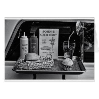 jaren '50 aandrijving-in B&W Wenskaart