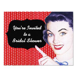 jaren '50 die het Vrijgezellenfeest van de Vrouw 10,8x13,9 Uitnodiging Kaart