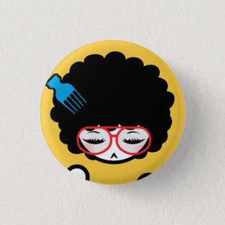 jaren '70 Afro Nina Ronde Button 3,2 Cm