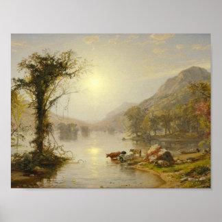 Jaspis Francis Cropsey - de Herfst op het Meer van Poster