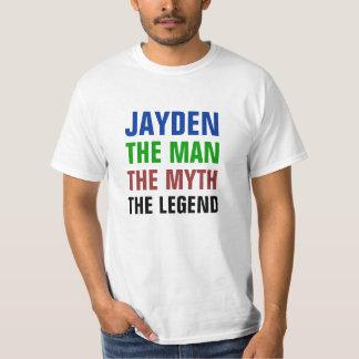 Jayden het man, de mythe, de legende t shirt