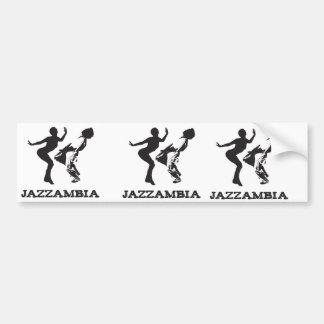 JAZZAMBIA het Wit van de bumpersticker