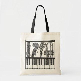 Jazzy Muzikale Instrumenten in de Zak van het Draagtas