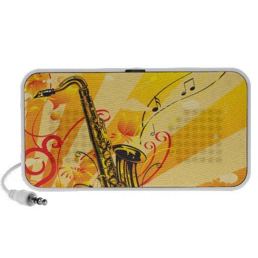Jazzy Stralen van de Saxofoon van Muziek Mp3 Speakers