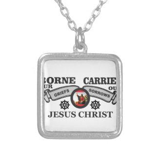 JC gedragen om zorgen en verdriet te dragen Zilver Vergulden Ketting
