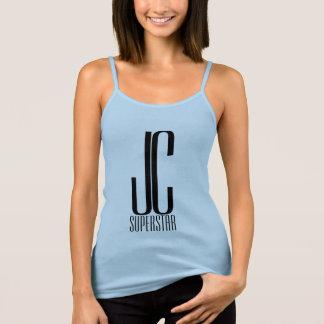 JC superster - in blauw met kroon #5 Tanktop