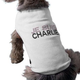Je Suis Charlie! - Ik ben Charlie Mouwloos Hondenshirt