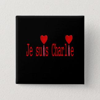 je suis Charlie Vierkante Button 5,1 Cm