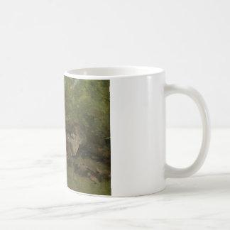 Jean-Baptiste-Camille Corot - Rotsen in het Bos Koffiemok