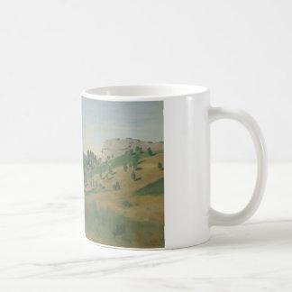 Jean-Baptiste-Camille Corot - Uitzicht van Olevano Koffiemok