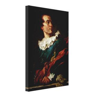 Jean-Honore Fragonard - Abbe DE Saint-Non Canvas Print