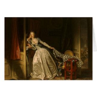 Jean-Honore Fragonard- de Gestolen Kus Kaart