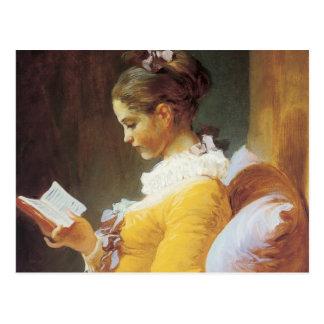 Jean-Honore Fragonard de Lezer Briefkaart