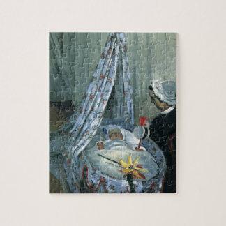 Jean Monet in Zijn Wieg door Claude Monet Legpuzzel
