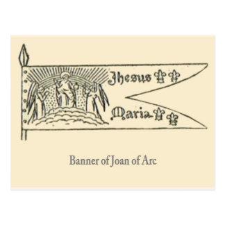 Jeanne d'arc, Banner Briefkaart