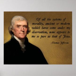 Jefferson Jesus Quote Poster