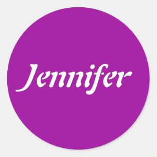 Jennifer Name Template Ronde Sticker