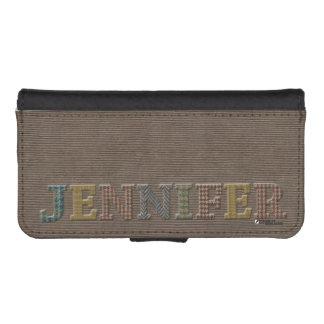 Jennifer Wallet Cellphone Case | de Tweed van iPhone 5 Portemonnee Hoesje