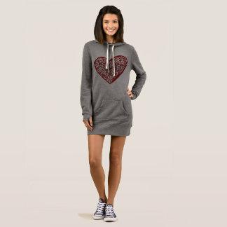 Jersey van het hart kleding mouwloze jurk