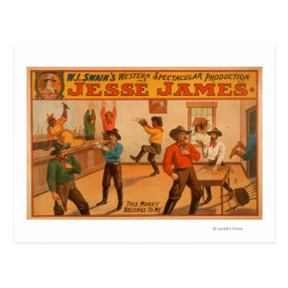 Jesse James Western Spectacular Production Briefkaart