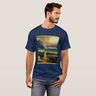 Jesus bij Ontwerp van de Textuur van de Poort van T Shirt