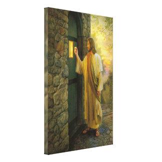 Jesus bij Uw het onduidelijke beeldontwerp van de Canvas Afdruk