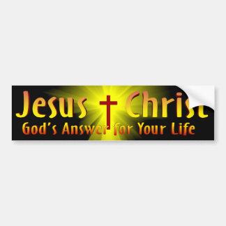 Jesus-Christus: Het Antwoord van de god Bumpersticker