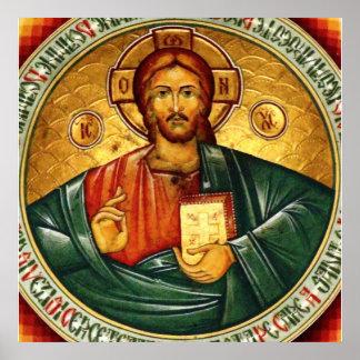 Jesus-Christus Hristos Pantocrator Poster