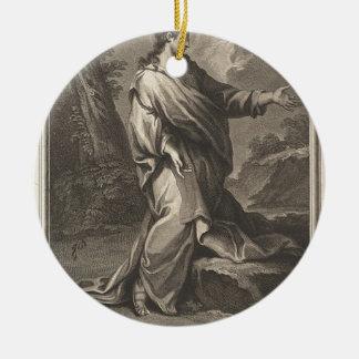 Jesus-Christus Rond Keramisch Ornament